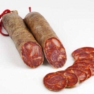 Chorizo cular iberique tranche